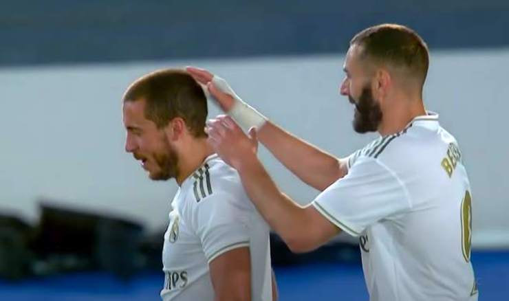 Eden Hazard i Karim Benzema (Screenshot: YouTube)